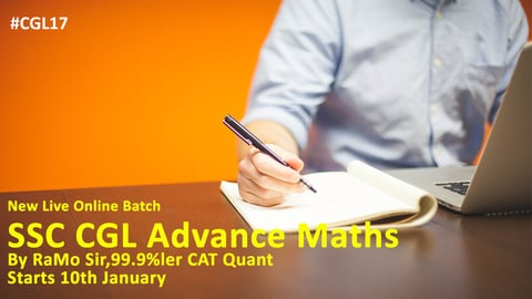 SSCCGL Advance Maths Online Live Classes (Pre-cum-Mains)