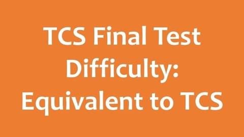 TCS Ninja Final Test - Difficulty Level - Intense