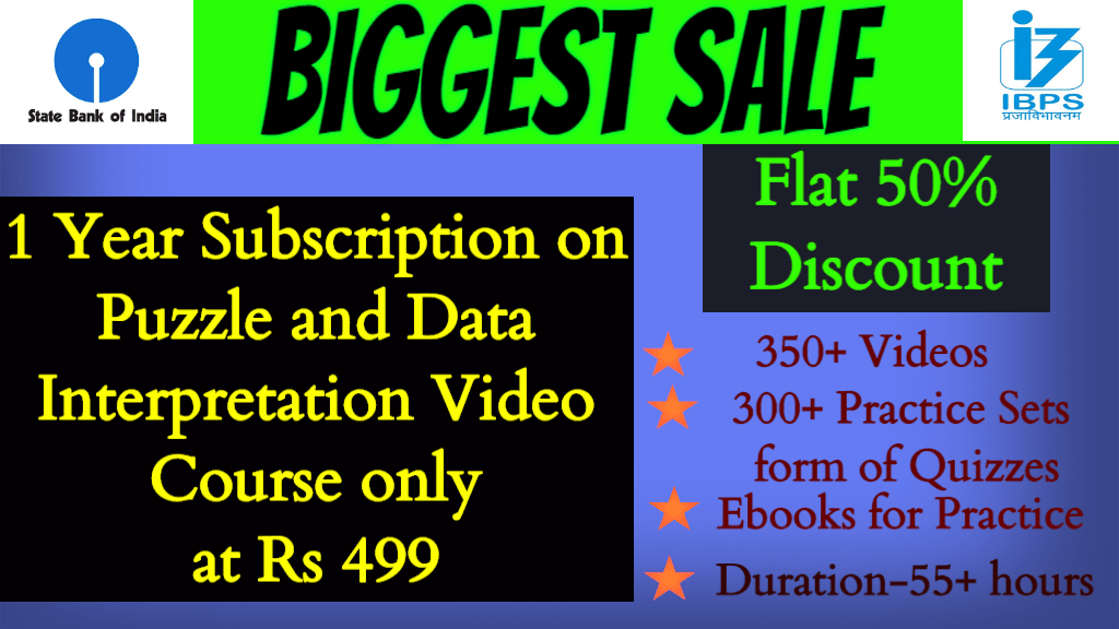 Maha Sale on Puzzle and DI Course