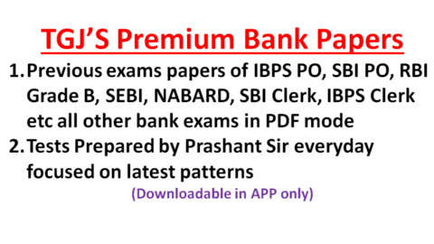 Previous bank exam Papers and TGJ mocks (PDF mode)